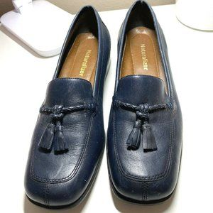 Naturalizer Blue Slip On Loafers W/ Tassels Size 7